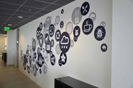 office wall decorating ideas. Office Wall Designs Ideascreative Branding Using Graphics From Vinyl Impression Decorating Ideas