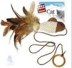 <b>Игрушка GiGwi Cat Toys</b> Рыбка на палец с кольцом для кошек ...