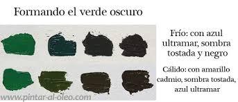 mezcla del color verde
