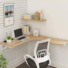 floating corner desk wall table
