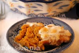 sweet potato casserole with marshmallows paula deen. Exellent Deen Classic Old Fashioned Souffled Sweet Potato Casserole Topped In The  Traditional Way With Gooey Marshmallows Or If You Prefer A Praline Topping With Sweet Potato Casserole Marshmallows Paula Deen P