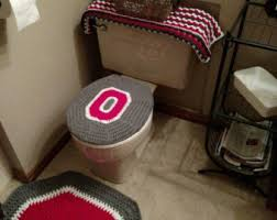 ohio state buckeyes crochet rug handmade block o throw rug