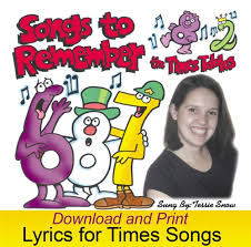 Words For Songs To Remember Times Tables