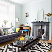 Small Picture Retro living room with tropical themed soft furnishings Living