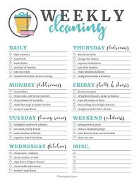 cleaning checklists free printable cleaning checklists cleaning tips pinterest