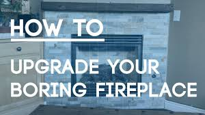 how to tile a fireplace wall upgrade your boring fireplace with natural stone