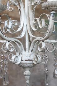 Lampe Vintage Weiß Chic Antique Kronleuchter Lüster Lampe