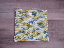 Easy Crochet Dishcloth Patterns Interesting How To Crochet An Easy Dishcloth