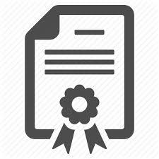 award certificate diploma licence patent prize ribbon icon  award certificate diploma licence patent prize ribbon icon