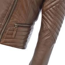 leather jacket brown karme