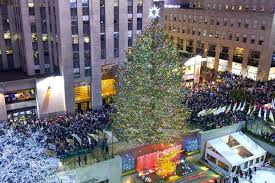 November 29, 2017. 30 Rockefeller Plaza. The Rockefeller Center Christmas  Tree ...