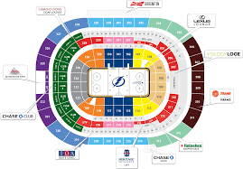 Seating Chart For Tampa Bay Lightning Amalie Arena Full