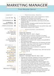 Modern Resume For Product Specialist Marketing Resume Sample Writing Tips Resume Genius