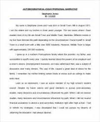 example autobiography essay sample autobiography essay personal  sample autobiography essay personal essay example 7 samples in pdf example autobiography essay