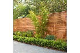 slatted bevel edged cedar fence