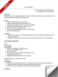 Paralegal Resume Objective 6 Attractive Design Ideas 5 Legal