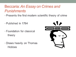 criminological theory past to present ppt video online  beccaria an essay on crimes and punishments