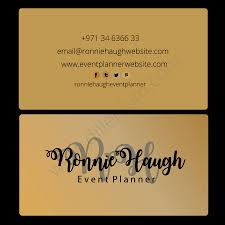 Event Planner Business Card Template Design Premade - Digital ...