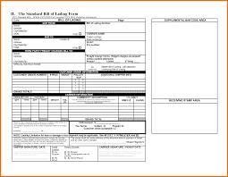 Online Bill Of Lading Form Standard Bill Of Lading Template Under Fontanacountryinn Com