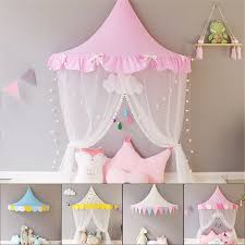 US $4.36 36% OFF|Children Teepee Tipi Tent For Kids Canopy Drapes Cribs Baby Cabin Girl Princess Cottages Canopy Bed Curtains Nursery Sofa Decor-in ...