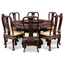 chinese dining room furniture set with oversized round round dining table with 6 chairs