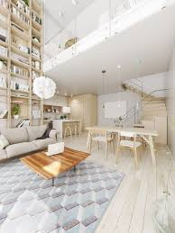Monochromatic Living Room Decor Living Room Brown Wooden Wall Blue Sofa Chanderlier Modern