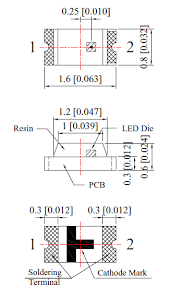 White 0603 Type Smd Led Technical Data