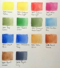 Watercolours Sennelier Landscape Half Pan Set Review