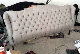 Couch Headboard Tufted Headboard From Old Couch Home Sweet Home For Bed