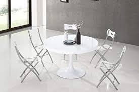Table à Manger Ronde Design Blanche Isola Amazonfr Cuisine Maison
