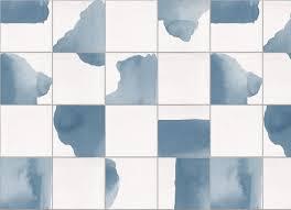 dip watercolour tile vinyl flooring plain