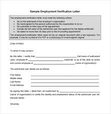 10 Sample Proof Of Employment Letters For Free Download Sample