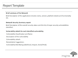 Network Assessment Templates Sample Example Of Vulnerability