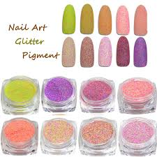 6 color nail art glitter powder dust for uv gel acrylic powder decoration tips 5 5 of 12