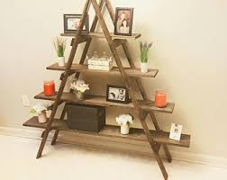 Christmas Tree Village Display Stands 100 Foot Wooden Ladder Christmas Village Display Ladder 76