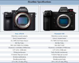 Panasonic S1r Vs Sony A7riii And Panasonic S1 Vs Sony A7iii