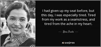 rosa parks a great w in sewing whipstitch quote i had given up my seat before