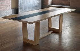 oak dining table for with welsh slate insert paul case furniture ideas 4