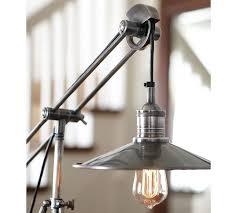 retro brass swing arm desk lamp