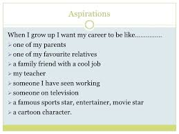 career aspirations aspirations<br