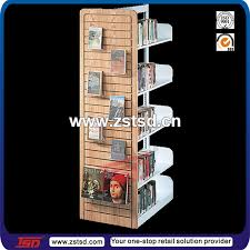 Free Standing Shop Display Units Tsdw100 Custom Retail Store Rotating Wooden Book StandShop 92