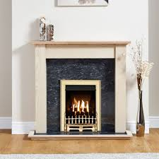 Focal Point Blenheim Brass Inset Gas Fire Suite | Departments | DIY at B&Q