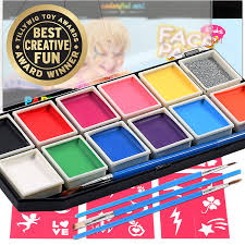 award winning face paint professional 12 color mega palette face painting kits for kids