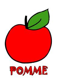 Coloriage Gommettes La Pomme