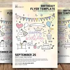 Birthday Flyer Templates Free Simple Birthday Party Flyer Template Template For Free Download On Pngtree