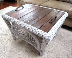 outdoor pallet wood. Wicker And Pallet Wood Table Outdoor .