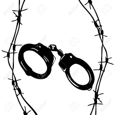 Barbed wire is the handcuffs royalty free cliparts vectors and rh 123rf chinese handcuff wire