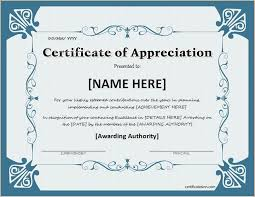 free templates for certificates of appreciation certificate of appreciation for ms word download at http