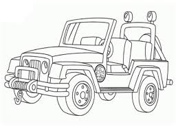 Small Picture Jeep Car Transportation Coloring Pages For Kids Printable Free