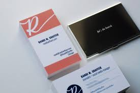 Tips For Designing And Printing Business Cards Randi With An I